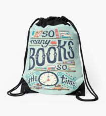 So many books so little time Drawstring Bag