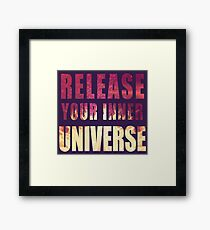 Picture-lettered Explosion slogan Framed Print