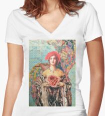 In The Fullness of Time Women's Fitted V-Neck T-Shirt