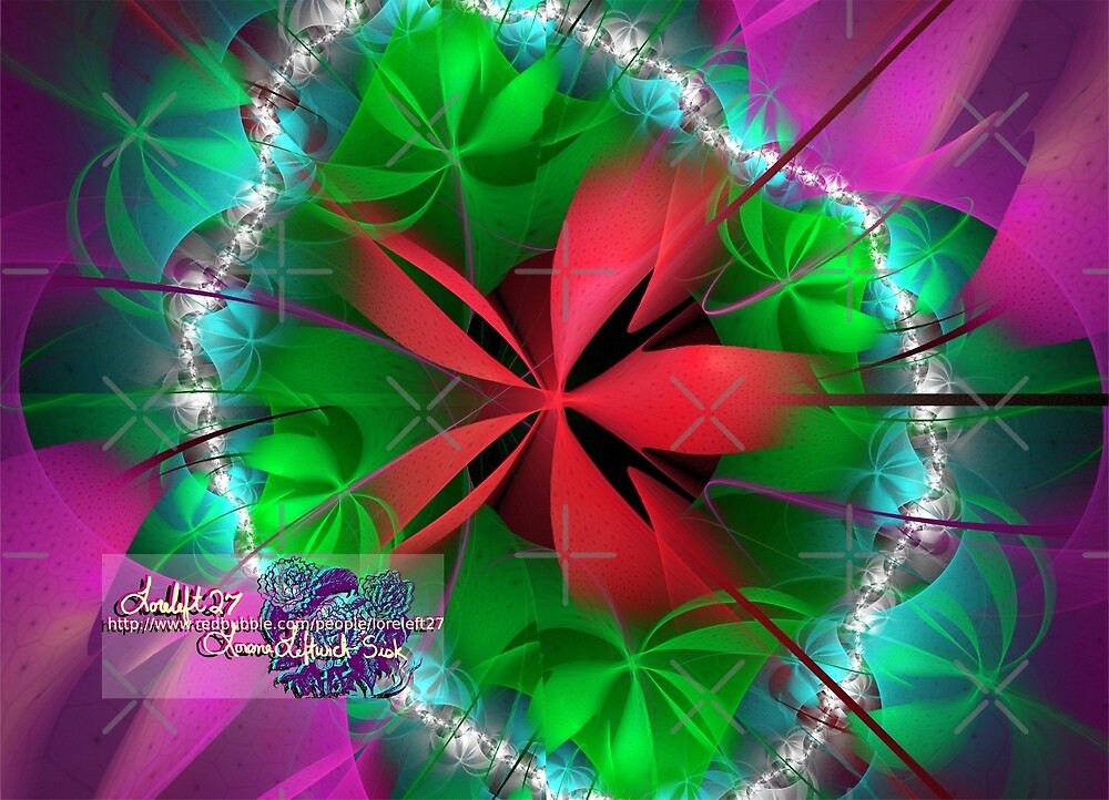 red ribbon by LoreLeft27