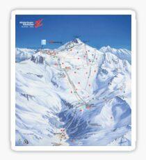 Hintertux Glacier Ski Map Sticker