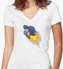 Dumb Tau Fitted V-Neck T-Shirt