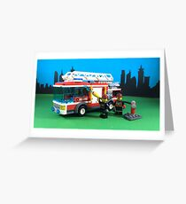 FIRE TRUCK, FIRE TRUCK, FIRE TRUCK Greeting Card