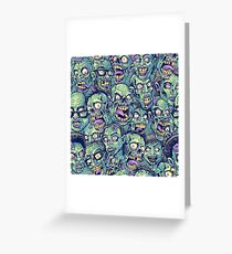 Zombie Repeatable Pattern Greeting Card