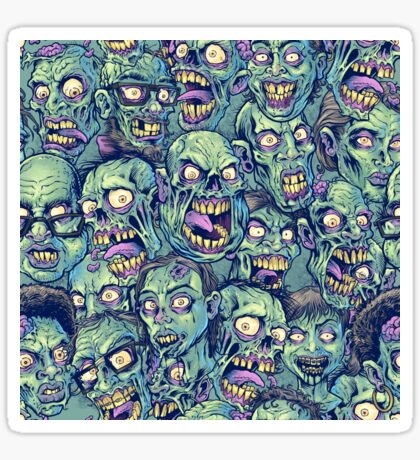 Zombie Repeatable Pattern Sticker