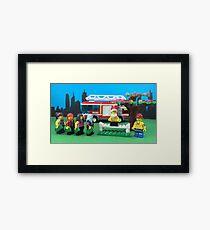 Happy Fireman Xmas Framed Print