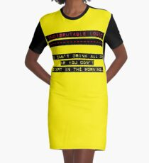 Indisputable Logic - Can't Drink All Day Graphic T-Shirt Dress