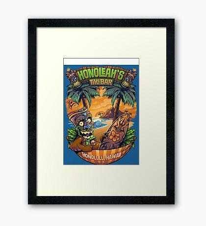 Tiki Man in a Hammock Framed Print