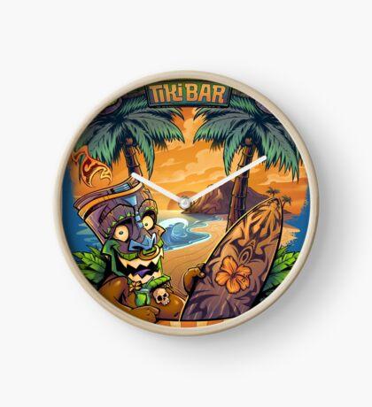 Tiki Man in a Hammock Clock