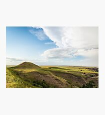 American prairies on a sunny day with a few clouds Photographic Print