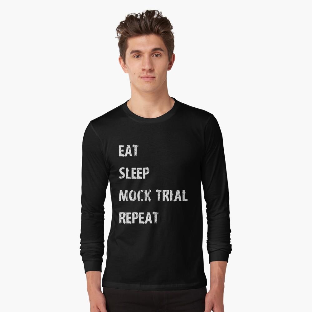 Eat Sleep Law Repeat Tee Shirt Cool Long Sleeve Shirt Lawyer