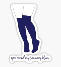 Knee Socks / January Blues Sticker