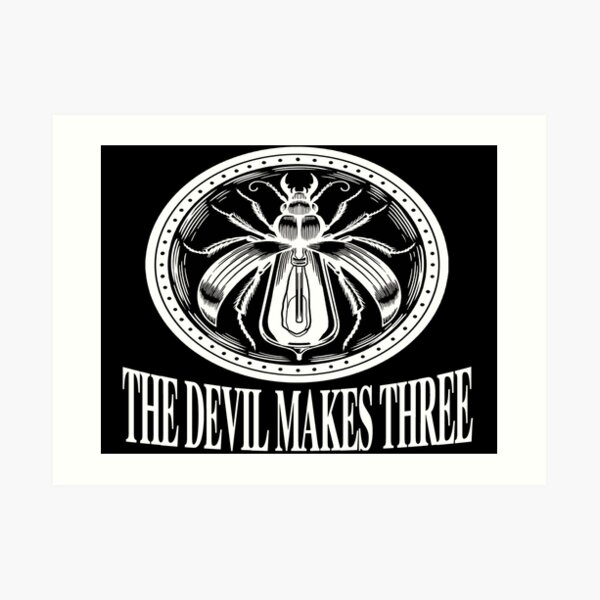 music the devil makes three Art Print
