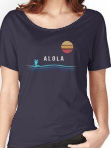 Pokemon Sun and Moon - Alolan Raichu Surfing Women's Relaxed Fit T-Shirt