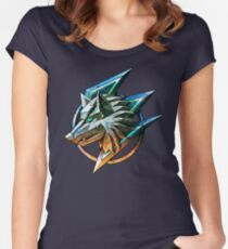 Colored wolf ! Women's Fitted Scoop T-Shirt