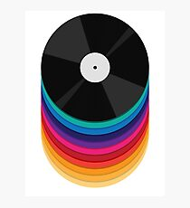 Rainbow Records Photographic Print