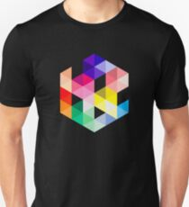 Geometric Color Cube T-Shirt