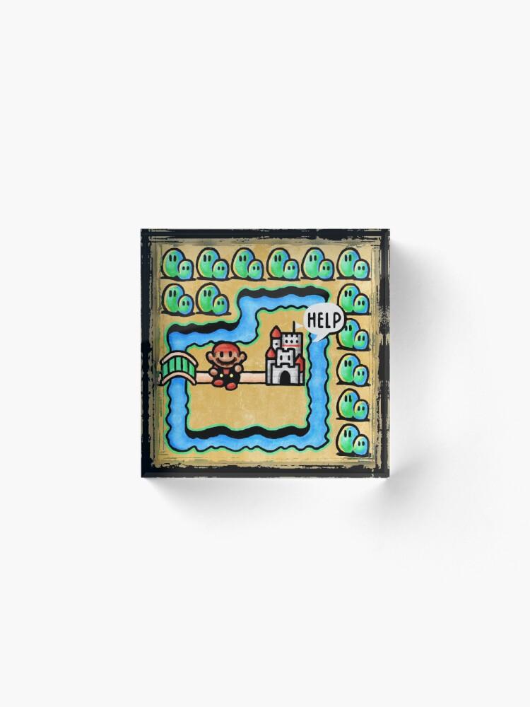 Alternate view of Super Mario 3 Level 1 Acrylic Block