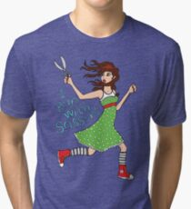 I Run With Scissors Tri-blend T-Shirt