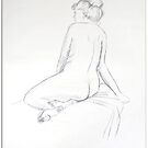 Life drawing - back of woman by Samuel Ruth