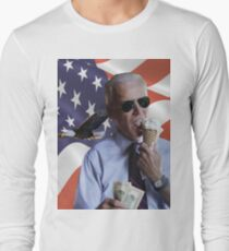 Joe Biden Loves America & Ice Cream Long Sleeve T-Shirt