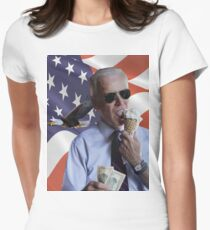 Joe Biden Loves America & Ice Cream Women's Fitted T-Shirt