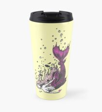 Falling mermaid: Pink Travel Mug