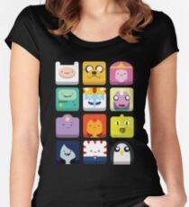 Adventure time! Women's Fitted Scoop T-Shirt
