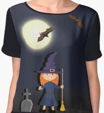 Witch in a graveyard night Chiffon Top