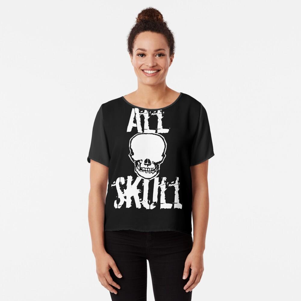 All Skull - The Dark Side Chiffon Top