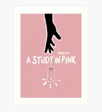 A Study in Pink  Art Print
