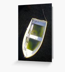 about as useless as a boat full of water...! Greeting Card