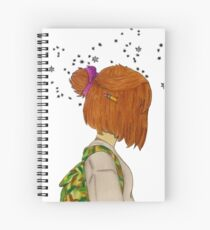 'Lost Girl, In A Starry World'.   Spiral Notebook