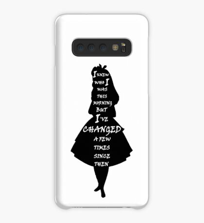 Alicia en el país de las maravillas - Cita - blanco y negro Funda/vinilo para Samsung Galaxy