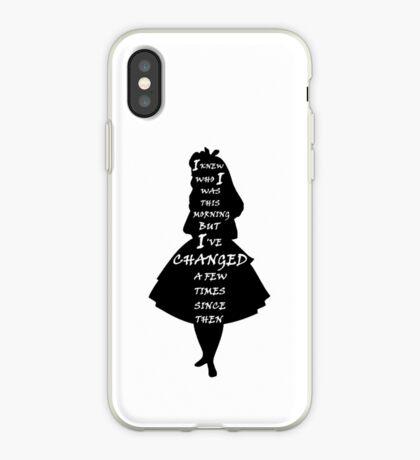 Alicia en el país de las maravillas - Cita - blanco y negro Vinilo o funda para iPhone