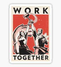 Work Together (Vector Recreation) Sticker