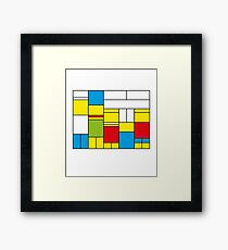 Mondrian ca 1989 - The Simpsons Framed Print