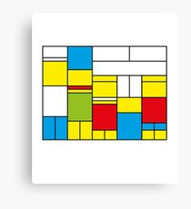 Mondrian ca 1989 - The Simpsons Canvas Print