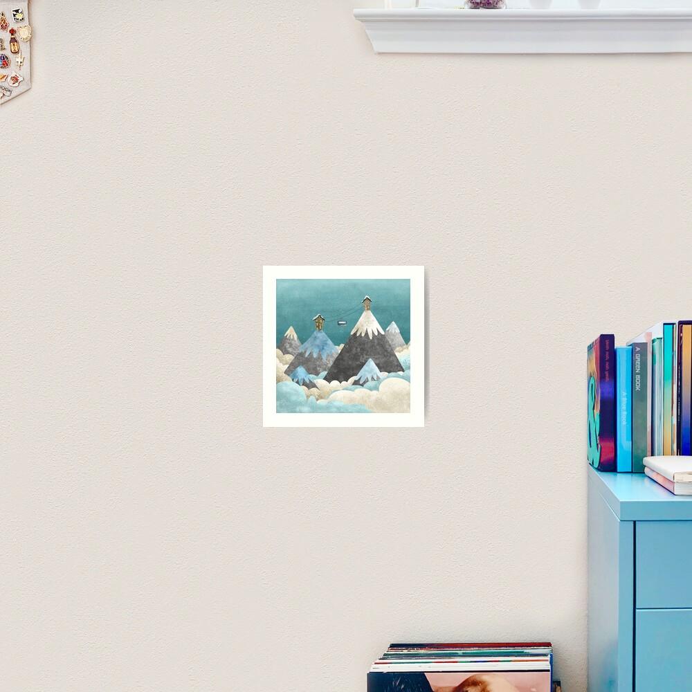 Winter Gondola Art Print