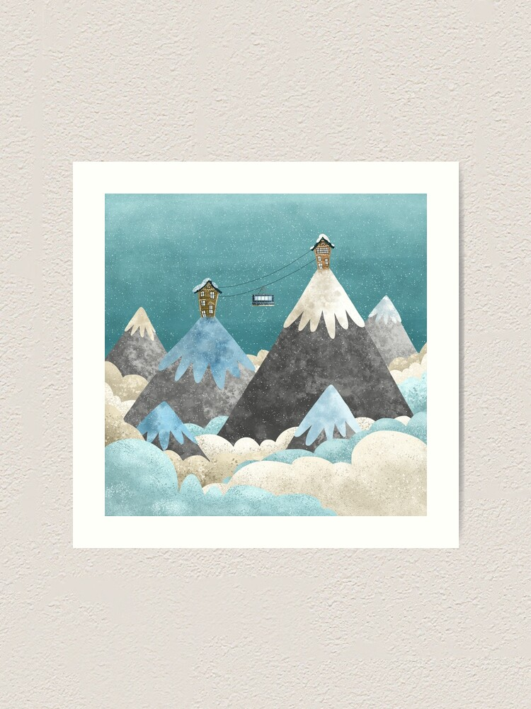 Alternate view of Winter Gondola Art Print