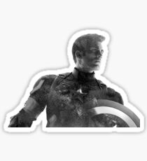 Starry Capitan America Sticker