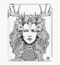 Horned Goddess by Juliana Loomer iPad Case/Skin