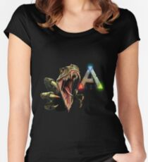 Ark Survival Evolved - Dino Rawr Women's Fitted Scoop T-Shirt