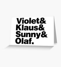 A Series of Unfortunate Names Greeting Card