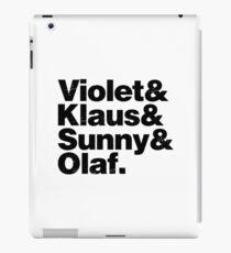 A Series of Unfortunate Names iPad Case/Skin