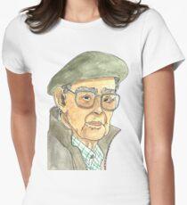 Anciano Portugués Camiseta entallada para mujer