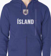 Iceland National Team Jersey Design - Island Team Wear Zipped Hoodie