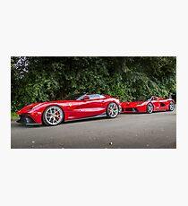 Ferrari TRS & LaFerrari Photographic Print