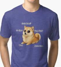 Kawaii Doge Tri-blend T-Shirt