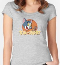 Tom and Jerry Women's Fitted Scoop T-Shirt